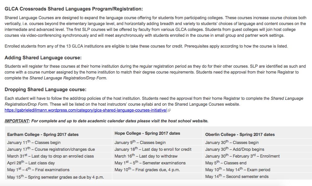 Logistics: Enrollment and Registration – GABRIELE DILLMANN